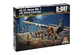 1/72 Italeri AS.51 Horsa Mk.1 Glider with Paratroopers D-Day 194